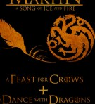 A feast for crows + a dance with dragons - George R. R. Martin portada